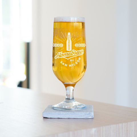 Personalised Homebrew Beer Glass-OurPersonalisedGifts.com