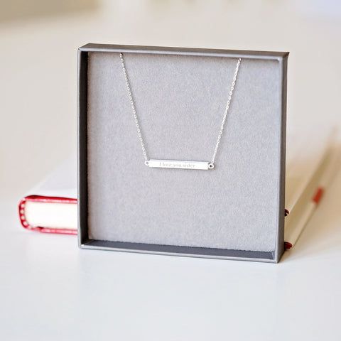 Personalised Horizontal Necklace-OurPersonalisedGifts.com