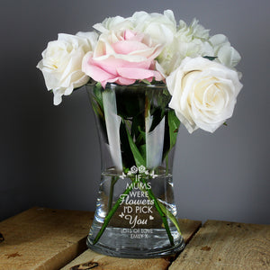 Personalised I'd Pick You Glass Vase-OurPersonalisedGifts.com