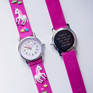 Personalised Kids Unicorn Watch-OurPersonalisedGifts.com