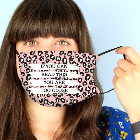 Personalised Leopard Print Face Covering-OurPersonalisedGifts.com