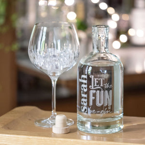 Personalised Let The Fun Be Gin-OurPersonalisedGifts.com