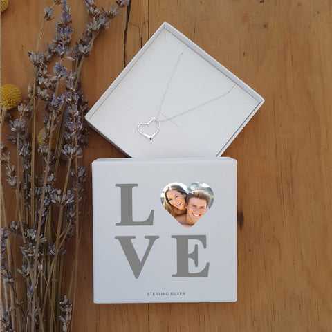 Personalised Love Photo Upload Sterling Silver Necklace-OurPersonalisedGifts.com
