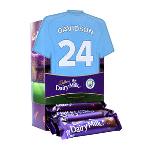 Personalised Man City Shirt Cadbury Dairy Milk Favourites Box-OurPersonalisedGifts.com