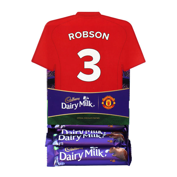 Personalised Man Utd Shirt Cadbury Dairy Milk Favourites Box-OurPersonalisedGifts.com