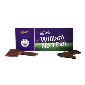 Personalised Manchester City Cadbury Dairy Milk 850g-OurPersonalisedGifts.com