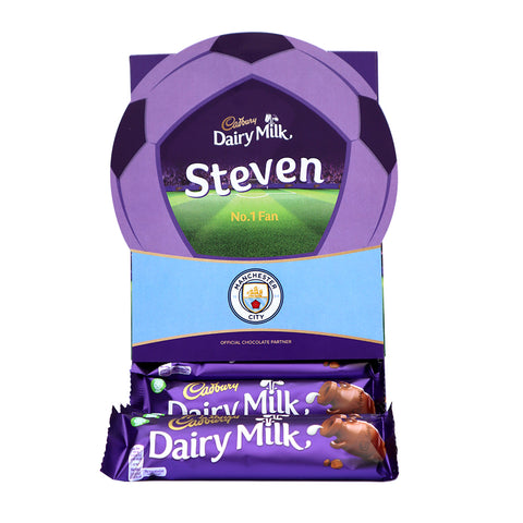 Personalised Manchester City Cadbury Dairy Milk Favourites Box-OurPersonalisedGifts.com
