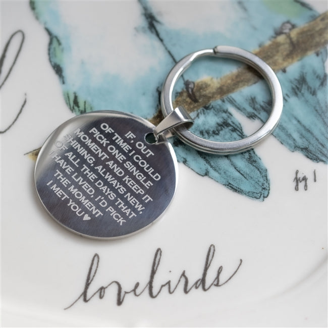 Personalised Moment I Met You Keyring-OurPersonalisedGifts.com