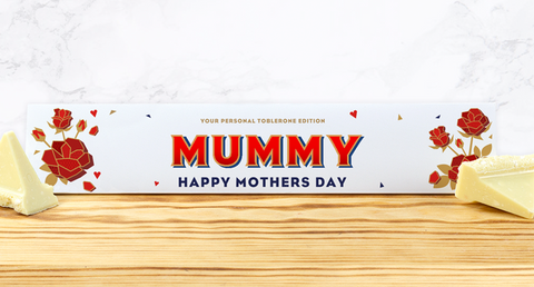 Personalised Mother's Day White Chocolate Toblerone 360g-OurPersonalisedGifts.com