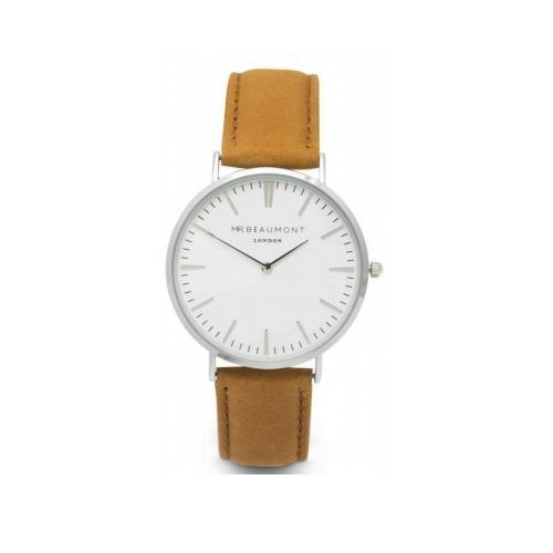 Personalised Mr Beaumont Tan Leather Watch-OurPersonalisedGifts.com