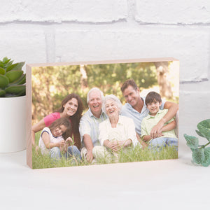 Personalised Photo Upload Solid Beech Block-OurPersonalisedGifts.com