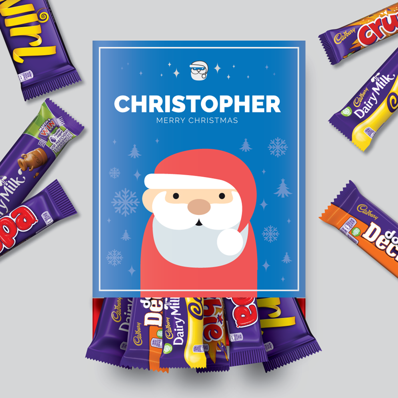 Personalised Santa Cadbury Mixed Favourites Box-OurPersonalisedGifts.com