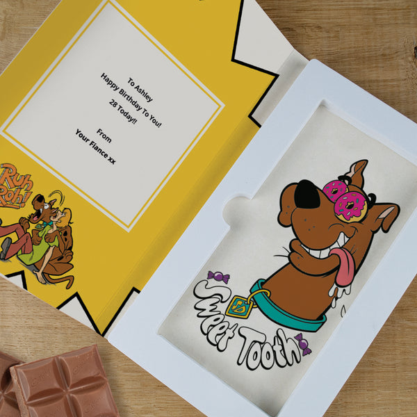 Personalised Scooby Doo Cadbury Dairy Milk Chocolate Card-OurPersonalisedGifts.com