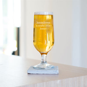 Personalised Special Message Craft Beer Glass-OurPersonalisedGifts.com