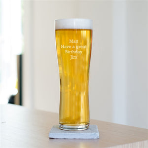 Personalised Special Message Pint Beer Glass-OurPersonalisedGifts.com