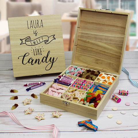 Personalised Sweet Like Candy Wooden Sweet Box-OurPersonalisedGifts.com