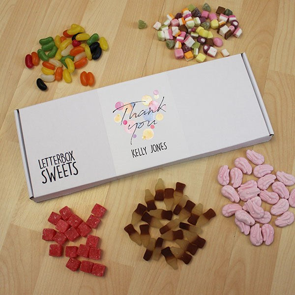 Personalised Thank You Letterbox Sweets-OurPersonalisedGifts.com