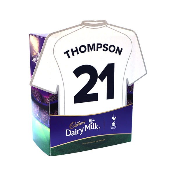 Personalised Tottenham Hotspur Shirt Cadbury Dairy Milk Favourites Box-OurPersonalisedGifts.com