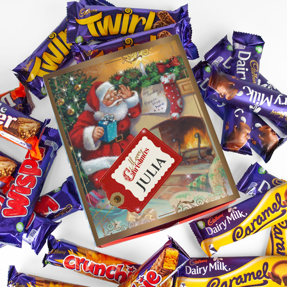 Personalised Vintage Dear Santa Cadbury Mixed Favourites Box-OurPersonalisedGifts.com