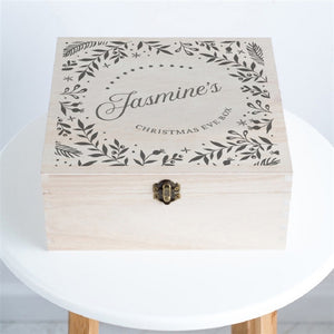 Personalised Wreath Christmas Eve Box-OurPersonalisedGifts.com