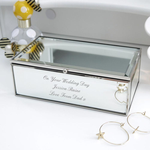 Personalised Any Message Mirrored Jewellery Box-OurPersonalisedGifts.com