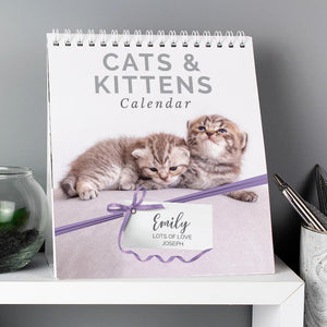 Personalised Cats and Kittens Desk Calendar-OurPersonalisedGifts.com