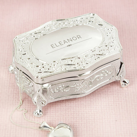 Personalised Classic Small Antique Trinket Box-OurPersonalisedGifts.com