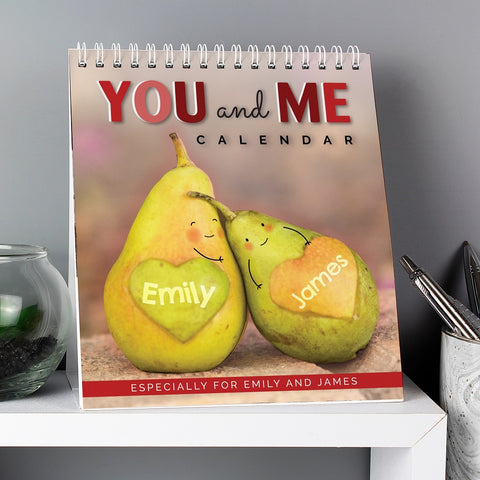 Personalised Couples Desk Calendar-OurPersonalisedGifts.com