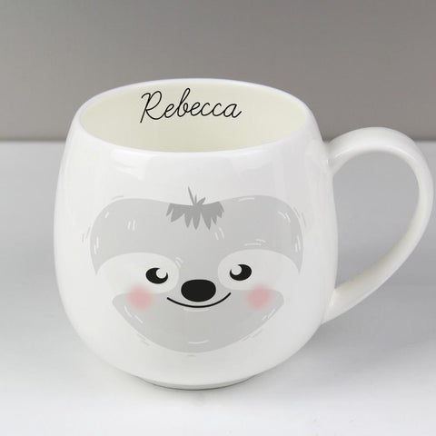 Personalised Cute Sloth Shape Mug-OurPersonalisedGifts.com