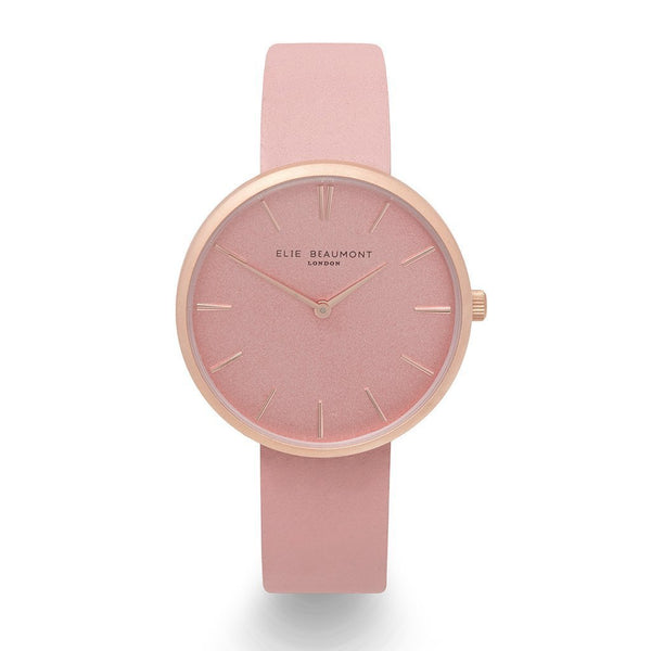 Personalised Elie Beaumont Hampstead Pink Leather Watch-OurPersonalisedGifts.com