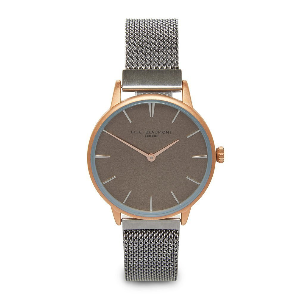 Personalised Elie Beaumont Holborn Rose Silver Mesh Watch-OurPersonalisedGifts.com