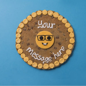 Personalised Giant Cookie Geek Emoji-OurPersonalisedGifts.com
