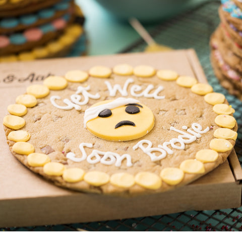 Personalised Giant Cookie Get Well Soon Emoji-OurPersonalisedGifts.com