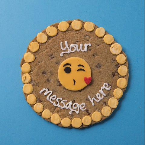 Personalised Giant Cookie Kiss Emoji-OurPersonalisedGifts.com