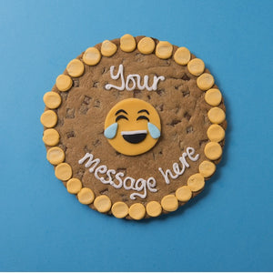 Personalised Giant Cookie Laughing Emoji-OurPersonalisedGifts.com