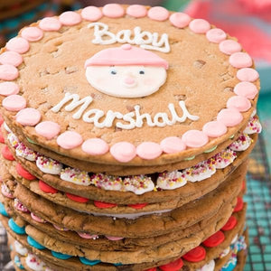 Personalised Giant Cookie New Baby-OurPersonalisedGifts.com