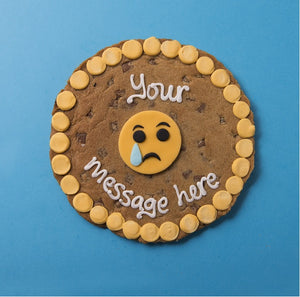Personalised Giant Cookie Sad Emoji-OurPersonalisedGifts.com