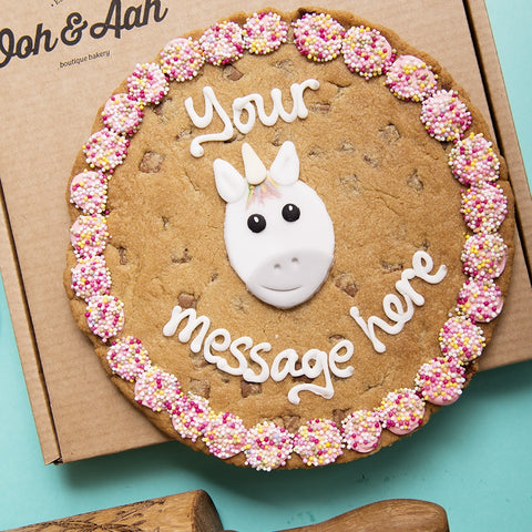 Personalised Giant Cookie Unicorn-OurPersonalisedGifts.com