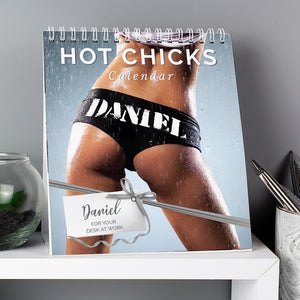 Personalised Hot Chicks Desk Calendar-OurPersonalisedGifts.com