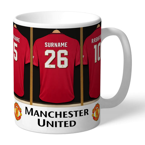 Personalised Manchester United FC Dressing Room Mug-OurPersonalisedGifts.com