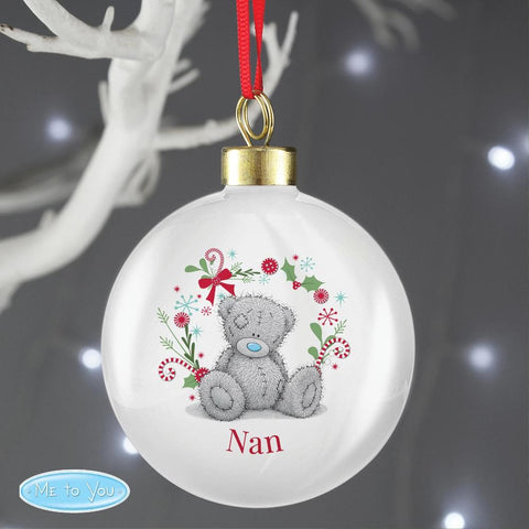 Personalised Me To You Festive Bauble-OurPersonalisedGifts.com