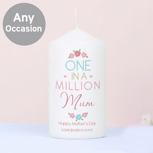 Personalised One in a Million Candle-OurPersonalisedGifts.com