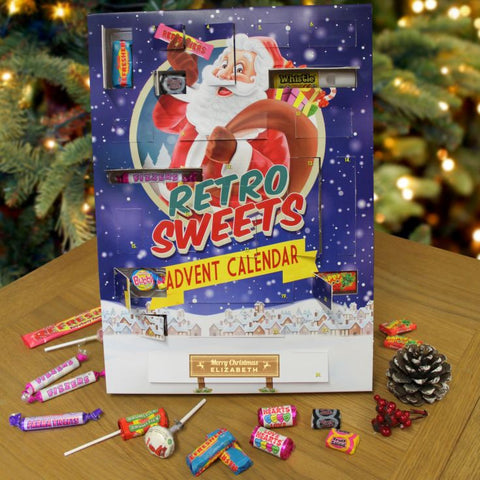 Personalised Retro Sweets Advent Calendar-OurPersonalisedGifts.com