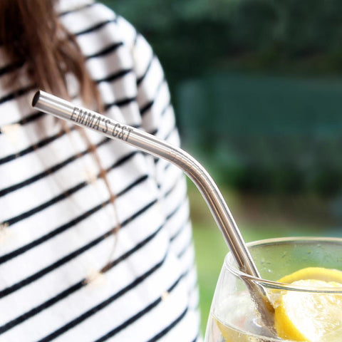 Personalised Reusable Eco Steel Straw-OurPersonalisedGifts.com