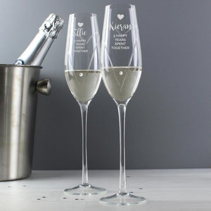 Personalised Swarovski Celebration Flutes with Gift Box-OurPersonalisedGifts.com