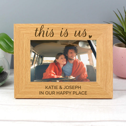 Personalised This Is Us Wooden Photo Frame-OurPersonalisedGifts.com