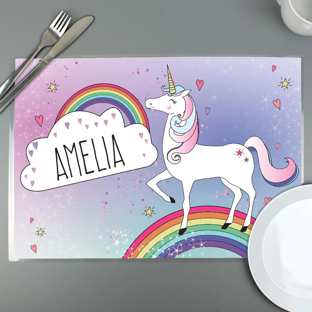 Personalised Unicorn Placemat-OurPersonalisedGifts.com