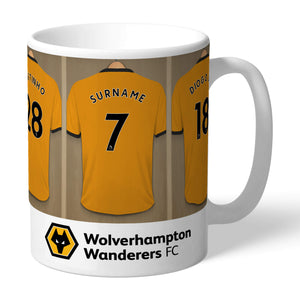 Personalised Wolves Dressing Room Mug-OurPersonalisedGifts.com