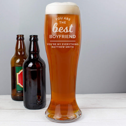 Personalised You are the Best Giant Beer Glass-OurPersonalisedGifts.com