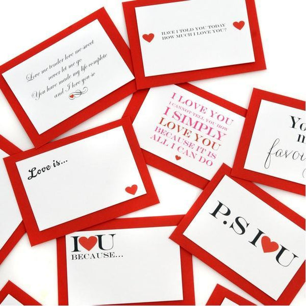 Five Mini Love Quote Cards-OurPersonalisedGifts.com